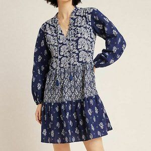 NWT Anthropologie $138 Carlita Tier Tunic Dress  S